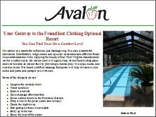 Avalon nudist resort